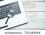 concept for searching on... | Shutterstock . vector #751183096