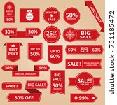 sale label collection. sale... | Shutterstock .eps vector #751185472