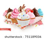 pastry shop  confectionery.... | Shutterstock .eps vector #751189036
