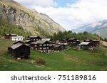 traditional village in swiss... | Shutterstock . vector #751189816