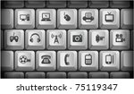 technology icons on gray... | Shutterstock .eps vector #75119347