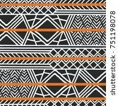 tribal ethnic colorful bohemian ... | Shutterstock .eps vector #751198078
