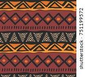 tribal ethnic colorful bohemian ...   Shutterstock .eps vector #751199572