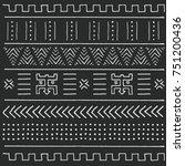 black and white tribal ethnic... | Shutterstock .eps vector #751200436