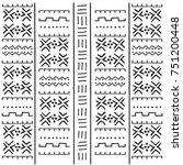 black and white tribal ethnic... | Shutterstock .eps vector #751200448
