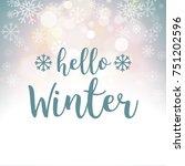 hello winter blue grey... | Shutterstock .eps vector #751202596