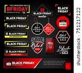 black friday sale design... | Shutterstock .eps vector #751217122