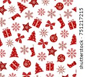 beautiful repeating christmas...   Shutterstock .eps vector #751217215