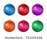 set of six multicolored... | Shutterstock .eps vector #751224136