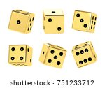 golden dice. 3d illustration   Shutterstock . vector #751233712
