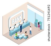 bank branch  employees and... | Shutterstock .eps vector #751241692