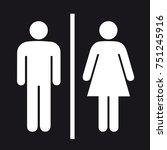 bathroom toilet male female or...   Shutterstock .eps vector #751245916