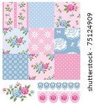 Patchwork Floral Rose Pattern...
