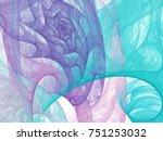 abstract fractal illustration.... | Shutterstock . vector #751253032