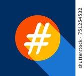 Hashtag Sign Illustration....