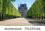 Avenue In The Tuileries Garden...