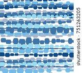 vector floral watercolor... | Shutterstock .eps vector #751263205