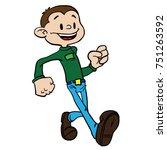 boy walking cartoon isolated on ... | Shutterstock .eps vector #751263592