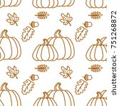 seamless pattern with outline... | Shutterstock .eps vector #751268872