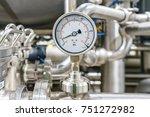 pressure gauge  measuring... | Shutterstock . vector #751272982
