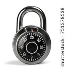 combination padlock | Shutterstock . vector #751278538