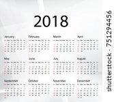 calendar 2019 year in simple... | Shutterstock .eps vector #751294456