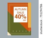 autumn sale modern banner in... | Shutterstock .eps vector #751294786