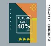autumn sale modern banner in... | Shutterstock .eps vector #751294912