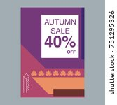 autumn sale modern banner in... | Shutterstock .eps vector #751295326