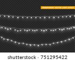 christmas lights isolated... | Shutterstock .eps vector #751295422