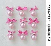 Pastel Pink Christmas Balls ...