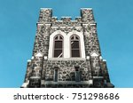 brick stone cathedral... | Shutterstock . vector #751298686