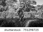 isolated garden statue.... | Shutterstock . vector #751298725