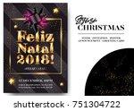feliz natal 2018  merry... | Shutterstock .eps vector #751304722