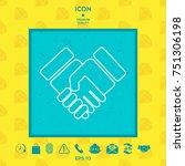handshake symbol icon | Shutterstock .eps vector #751306198