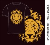 lion face vector  for t shirt... | Shutterstock .eps vector #751310266
