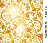 seamless wallpaper with floral...   Shutterstock .eps vector #75131611