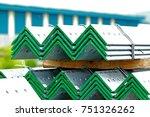 hot dip galvanized steel member ...   Shutterstock . vector #751326262