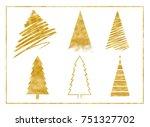 gold glitter twinkle texture on ... | Shutterstock . vector #751327702