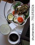 breakfast with coffee | Shutterstock . vector #751352026