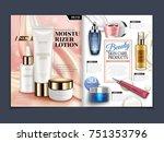 skincare magazine template ... | Shutterstock .eps vector #751353796
