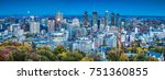 downtown montreal  qc. canada. | Shutterstock . vector #751360855