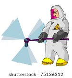 man in protective gear | Shutterstock .eps vector #75136312