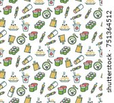 asian food seamless pattern  ... | Shutterstock .eps vector #751364512