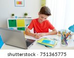 education  childhood and people ... | Shutterstock . vector #751365775