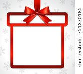 illustration of red ribbon bow...   Shutterstock .eps vector #751370185