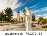 statue of the blessed virgin... | Shutterstock . vector #751372486