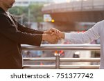commitment of business people... | Shutterstock . vector #751377742