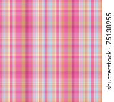 Summer Pink And Blue Candy Plaid