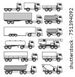 truck icons set vector. | Shutterstock .eps vector #751394092